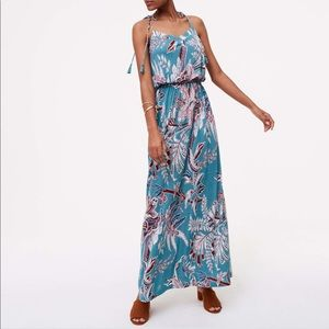 Loft strappy maxi dress in teal - xsp